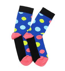 Шкарпетки LAPTI сині горох