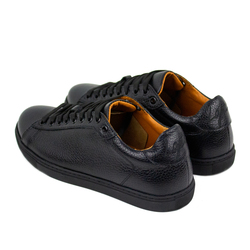Women's sneakers made of genuine leather classic Lapti black