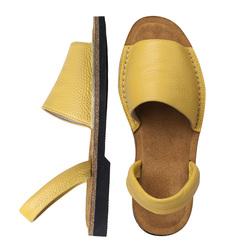 Минорки желтые из кожи_9190 (W)