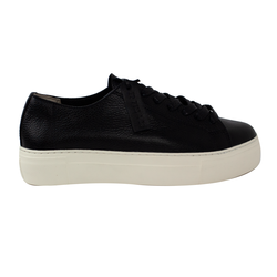 Women's sneakers made of genuine leather Lapti black without lining