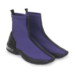 Кросівки-гольфи з італійської тканини і шкіри Lapti фіолетові