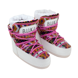 Women's moon rovers BUKI white with ornament