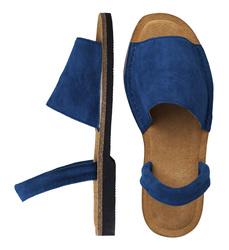 Минорки синие из велюра_9190 (W)