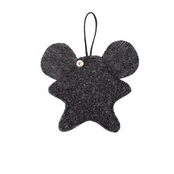 Toy-trinket mouse made of felt dark gray
