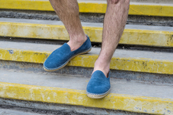Лоферы-эспадрильи мужские из натуральной замши L.A.P.T.I. светло-синие