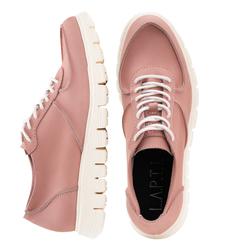Кросівки жіночі з натурального нубуку Lapti рожеві