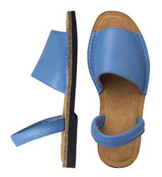 Минорки синие из кожи_9190 (W)