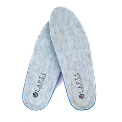 Warmed insoles female of felt Lapti menthol