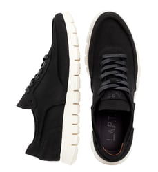 Man's sneakers made of natural nubuck Lapti black