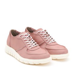 Women's sneakers made of natural napuck Lapti pink