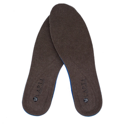 Warmed insoles for men of felt Lapti brown