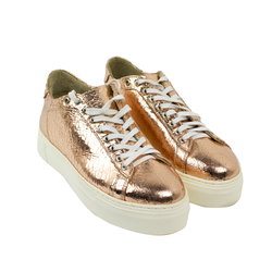 Women's sneakers made of genuine leather Lapti bronze