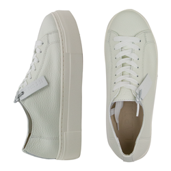 Women's sneakers made of genuine leather Lapti white without lining