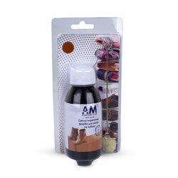 Light brown paint for suede and nubuck. AM 100ml