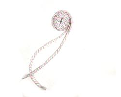 Шнурки білі плоскі кольорова строчка 120 см Lapti