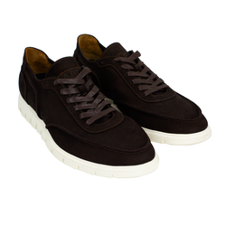 Man's sneakers made of natural nubuck Lapti brown