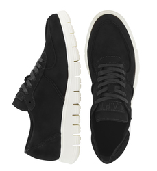 Women's sneakers made of natural napuck Lapti black