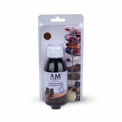 Brown paint for suede and nubuck. AM 100ml