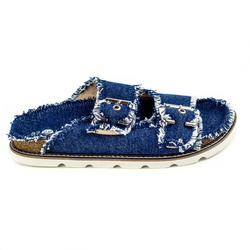 Women's slippers made of jeans L.A.P.T.I. dark blue