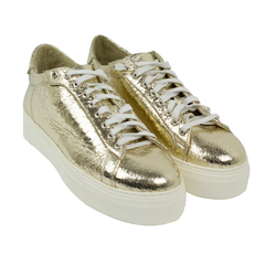 Women's sneakers made of genuine leather Lapti gold