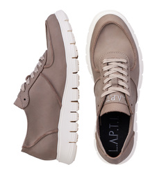 Men's sneakers made of natural napuck Lapti beige