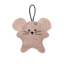 Toy-trinket mouse made of felt pink