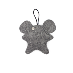 Toy-trinket mouse made of felt gray