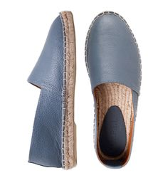 Espadrilles man's made of genuine leather L.A.P.T.I. dark gray