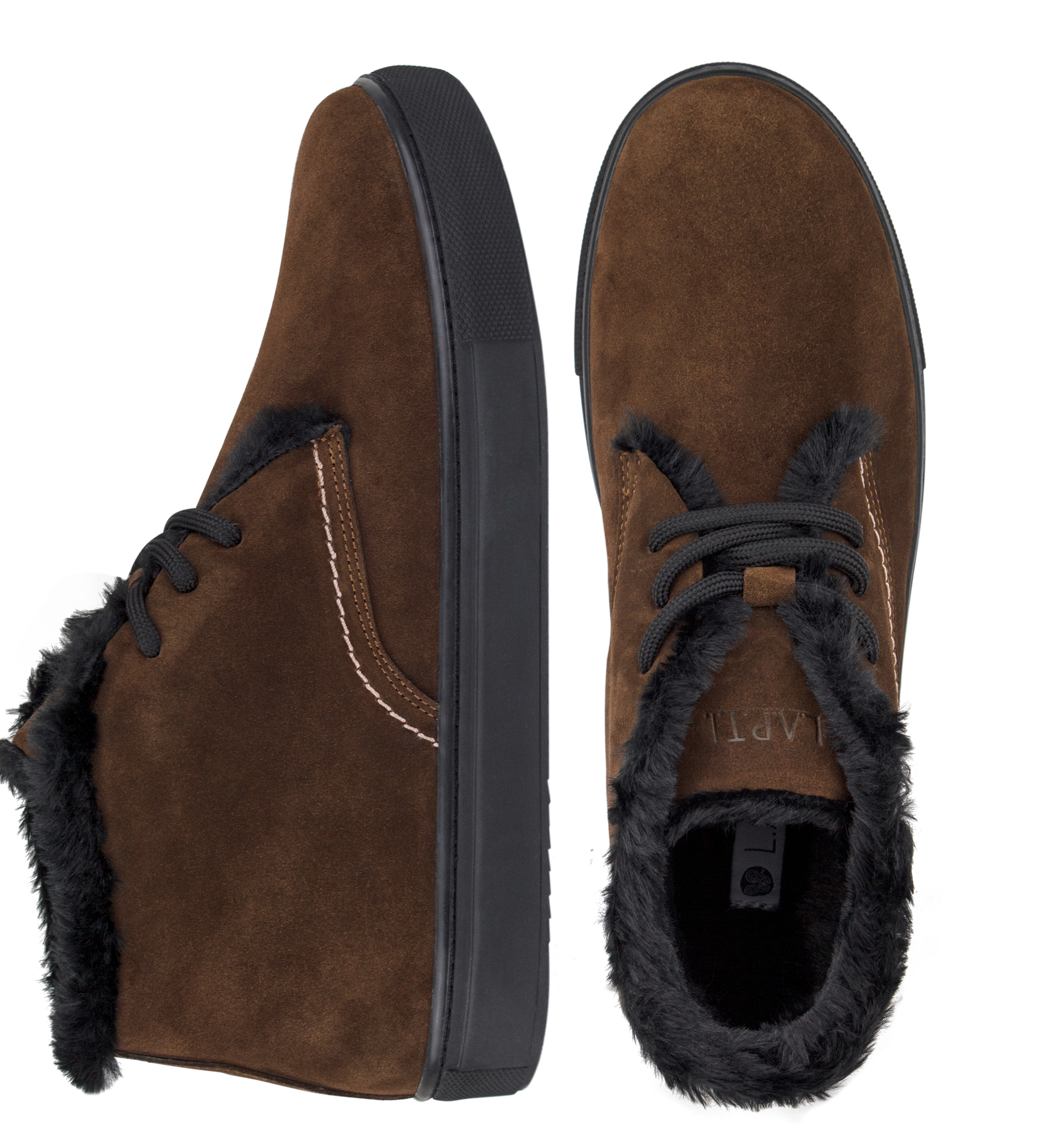 Suede Brown Boots with Wool Insulation (M)