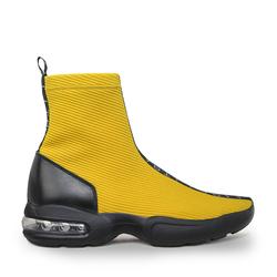 Кроссовки-гольфы из итальянского текстиля Lapti желтые