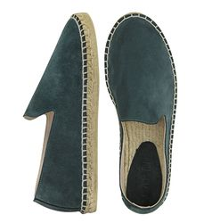 Suede loafers dark green (M)