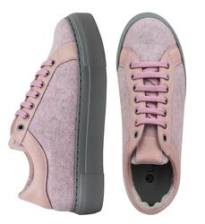 Кеды розовые из войлока на шнурках (W)