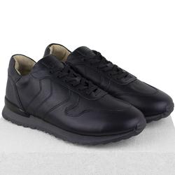 Кроссовки кожаные черные на кож.подкладе 7110 (M)