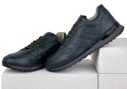 Кроссовки кожаные зеленые на кож.подкладе 7110 (M)