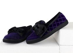 Бархатные фиолетовые лоферы