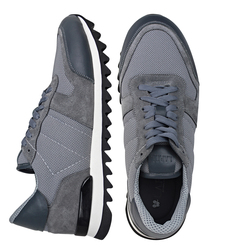 Men's sneakers combined Lapti gray