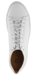 Men's sneakers made of genuine leather Lapti light white