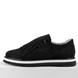 Замшевые черные туфли