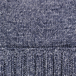 Hat woolen Lapti gray with a dusting