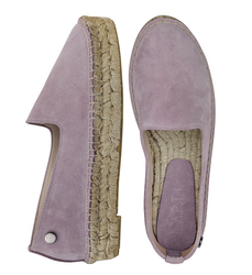 Women's loafers-espadrilles made of natural suede Lapti violet