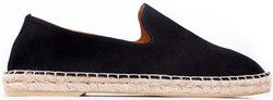 Men's loafers-espadrilles made of natural suede L.A.P.T.I. black