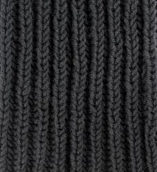 Шапка вязаная шерстяная Lapti черная с помпоном