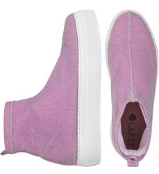 Cлипоны-носки розовый блеск сатин