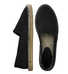 Black leather espadrilles  (M)