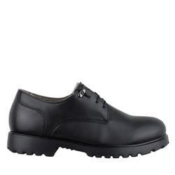 Туфли мужские из натуральной кожи Lapti черные на меху