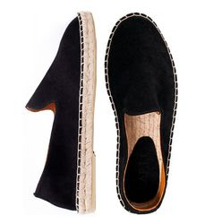Black suede loafers (M)