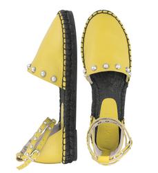 Кожаные желтые сандалии (W)