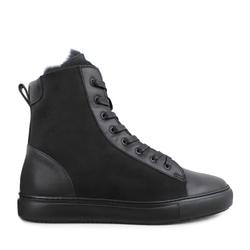 Ботинки дубленка черные на меху (M)