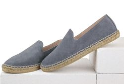 Suede loafers light grey (M)