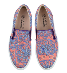 Prima Maria Orange textile slip-on shoes